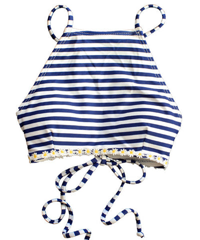 Kovey - Bay Bikini Top in Navy Strip - Beachbliss Swimwear & Apparel - 1