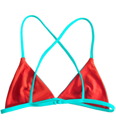 Kovey - Adventure Reversible Triangle Bikini Top in Cabo - Beachbliss Swimwear & Apparel - 2