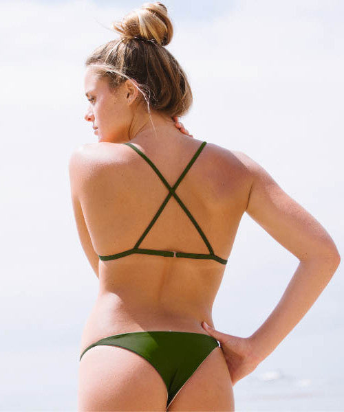 Kovey - Cove Reversible String Brazilian Bikini Bottom in Lombok