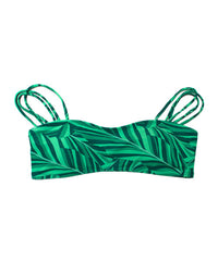 Kovey - Gili Off Shoulder Straps Bandeau Top Bikini Top in Banana Leaf - Beachbliss Swimwear & Apparel - 1