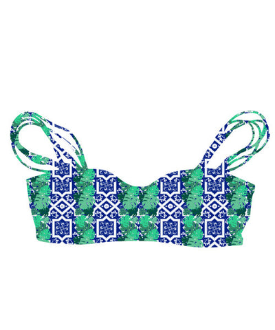 Kovey - Wayfare Reversible Bikini Top in Banana Leaf