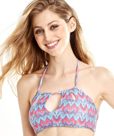 Peixoto - Tamarin Peek-A-Boo Bikini Top in Ziggy - Beachbliss Swimwear & Apparel - 1