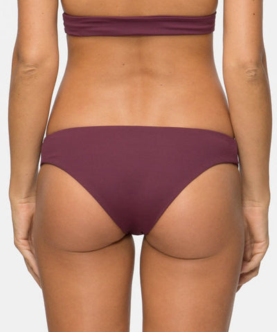 Tavik Ali Moderate Bikini Bottom in Merlot