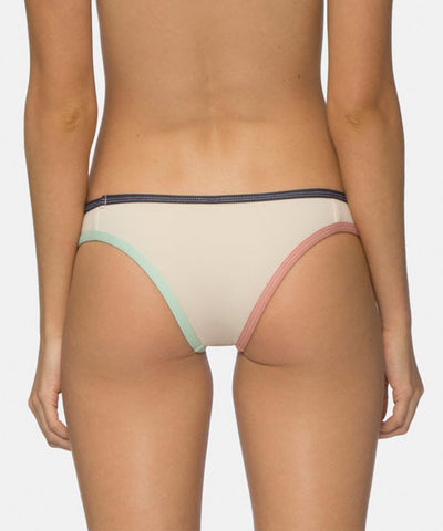 Tavik Jayden Color Blocked Bikini Bottom in Tapioca
