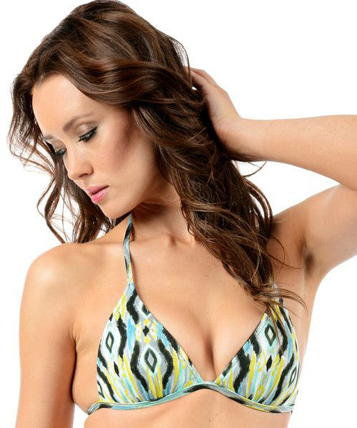 Voda Swim Envy Push Up String Bikini Top in Tortola - Beachbliss Swimwear & Apparel - 1