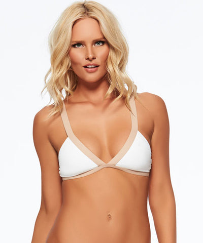 B. Swim Lani Palm - Island Hi-Neck Bikini Top