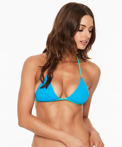 L*Space Two Tone Solids Itty Bikini Top