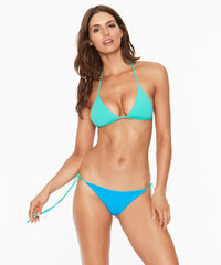 L*Space Two Tone Solids Lilly Itsy Cut Bikini Bottom - Electric Blue