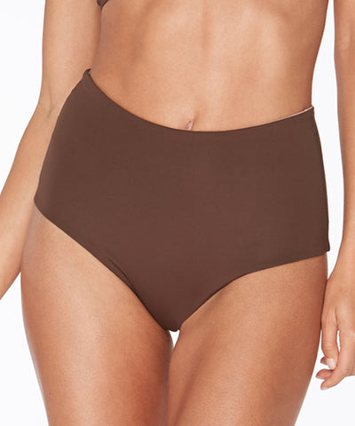 L*Space Sensual Solids Estella Classic Cut Bikini Bottom - Chocolate