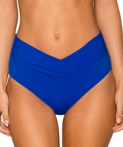 Sunsets Separates Ultra Blue - Summer Lovin' V Front High Waist Bikini Bottom