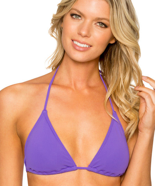 Sunsets Separates Vivid Violet - Slide Triangle Bikini Top - Beachbliss Swimwear & Apparel - 1