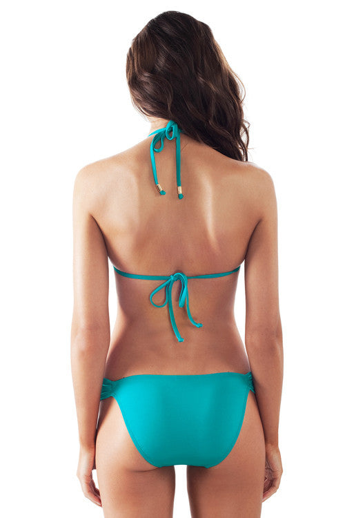 Voda Swim Envy Push Up Tie Front Bikini in Caribbean - Beachbliss Swimwear & Apparel - 2