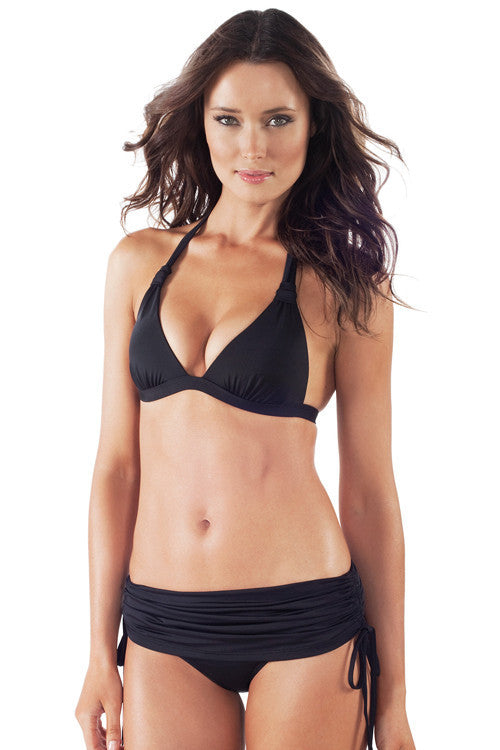 Voda Swim Envy Push Up Adjustable Skirted Bikini in Black - Beachbliss Swimwear & Apparel - 3