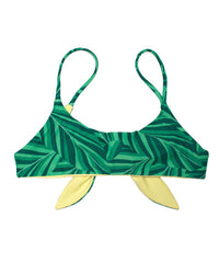 Kovey - Wayfare Reversible Bikini Top in Banana Leaf - Beachbliss Swimwear & Apparel - 1