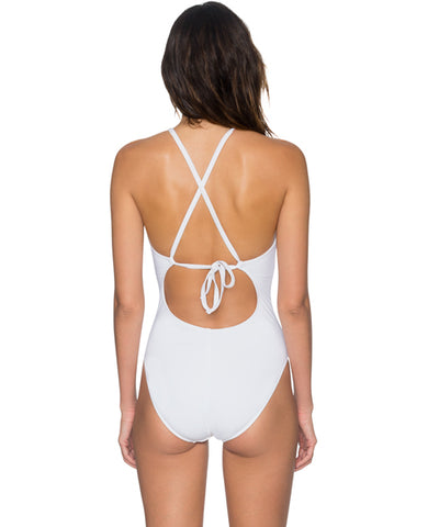 Sunsets Separates White - Bond Plunge One Piece Swimsuit