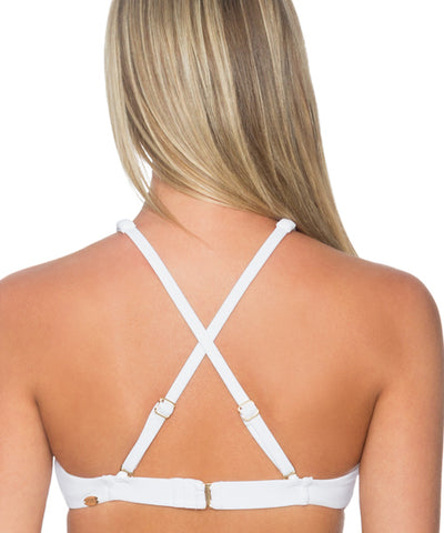 Sunsets Separates White - Hollywood Hi-Neck Bikini Top - Beachbliss Swimwear & Apparel - 2