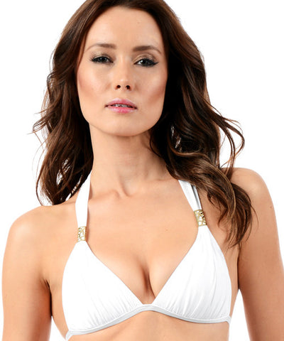 Voda Swim Envy Push Up Tube String Bikini Top in White - Beachbliss Swimwear & Apparel - 1