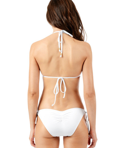 Voda Swim Envy Push Up Fringe Monokini in White - Beachbliss Swimwear & Apparel - 2