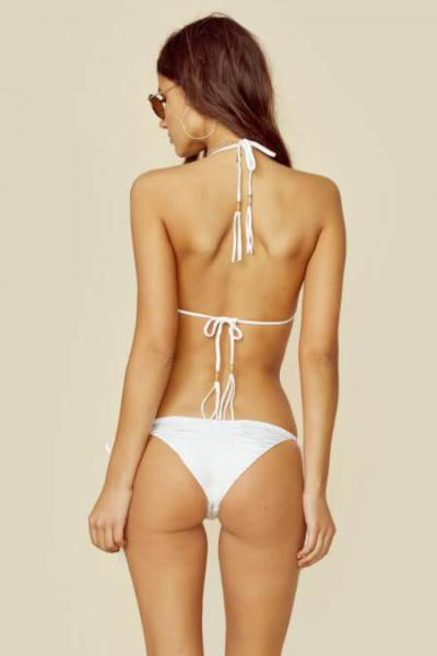 Blue Life Swim - Mirage Triangle Top in Diamond White