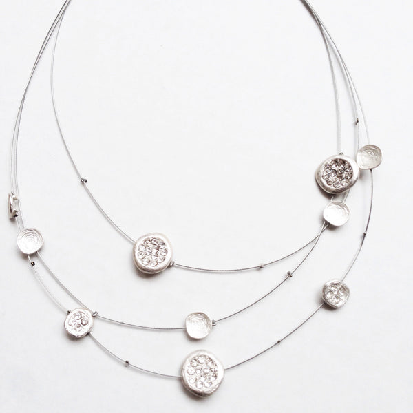 eternity disc necklace