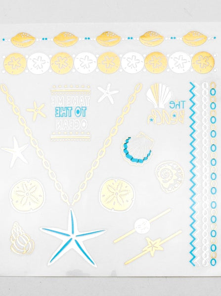Metallic Tattoos - Beach