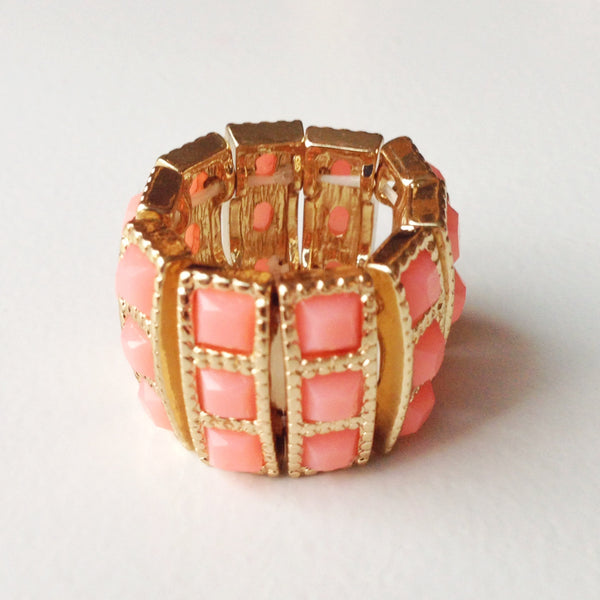 Coral Stack Ring