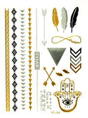 Metallic Tattoos - Aza