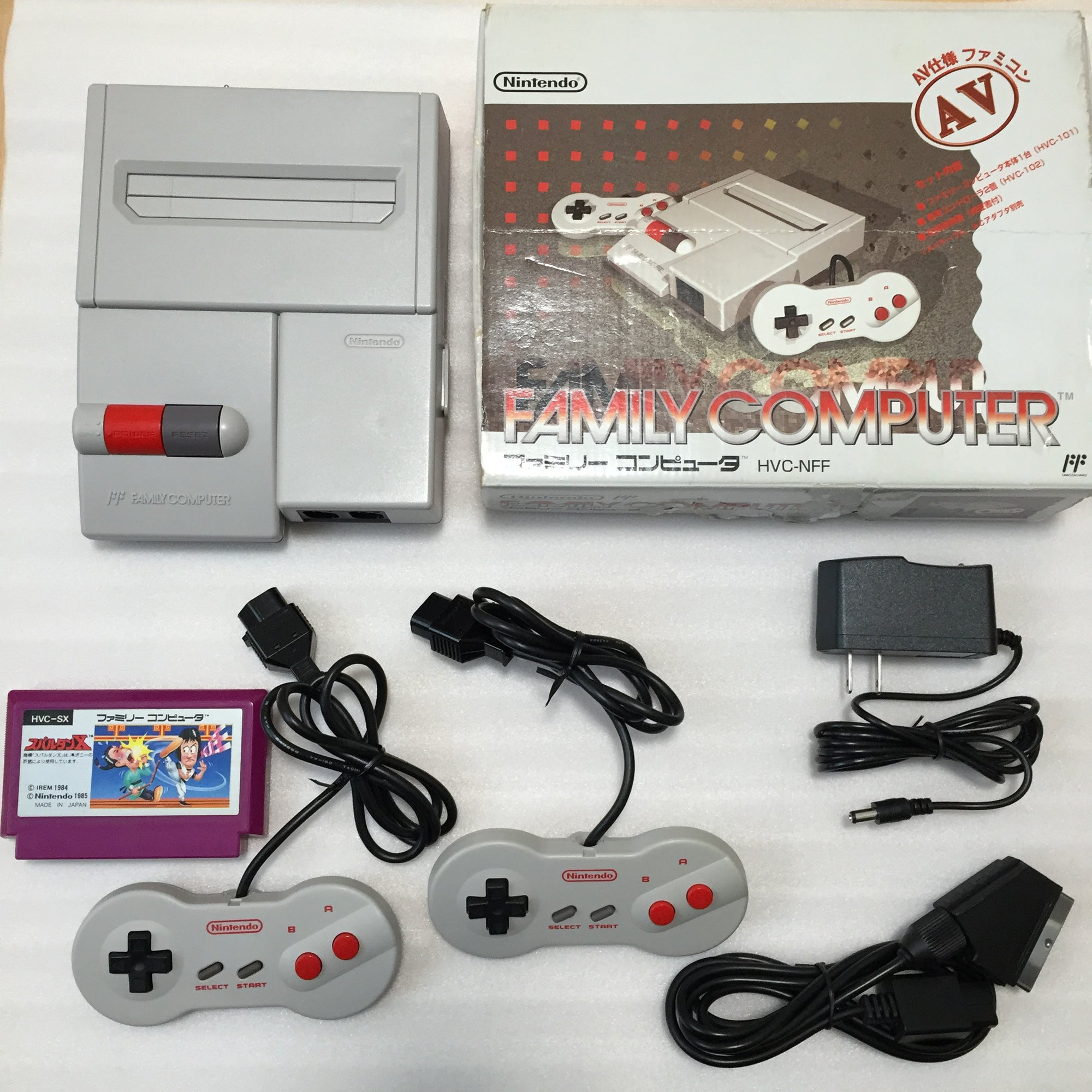 Boxed NESRGB Modded AV Famicom - Spartan X set