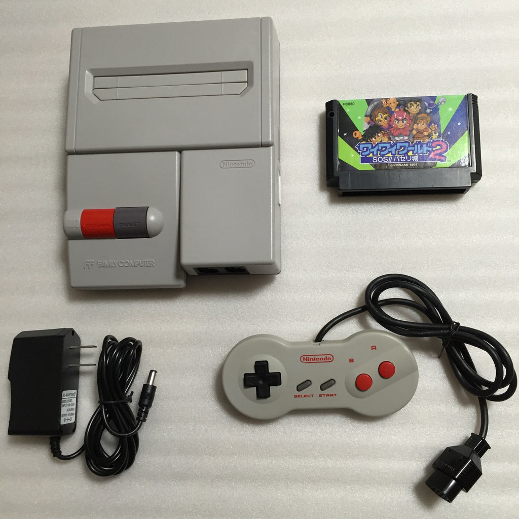 Hi-Def NES Modded AV Famicom - Wai Wai World 2 set