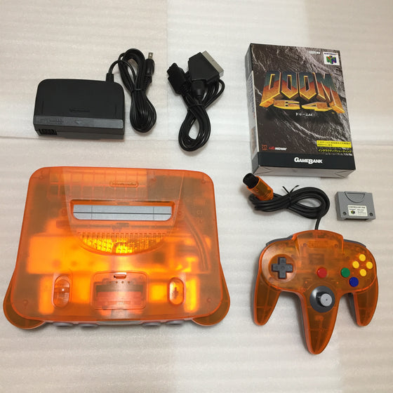 Daiei Hawks Nintendo 64 (JP/US) with N64RGB kit - Doom set