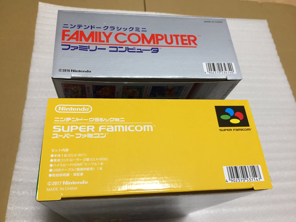 Famicom Mini and Super Famicom Mini set