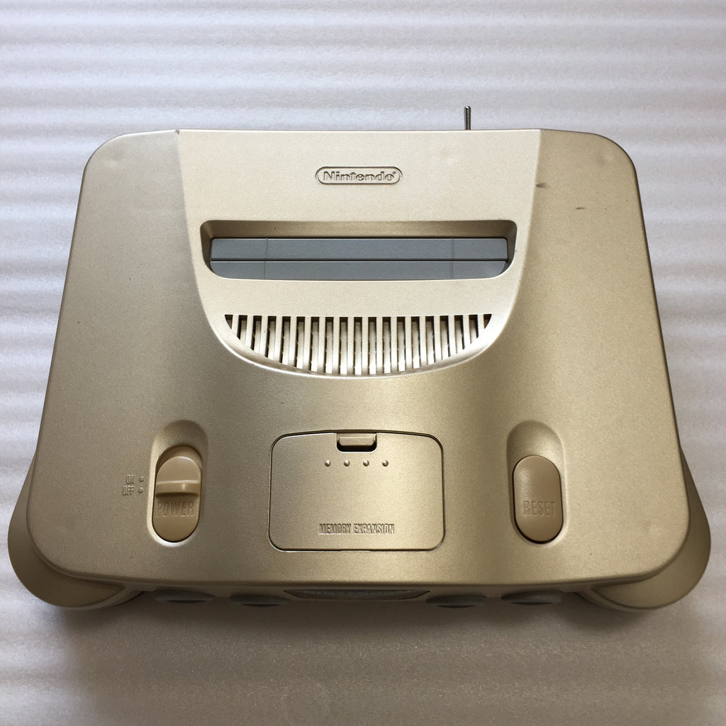 Gold Nintendo 64 with N64RGB kit - Compatible with JP and US games