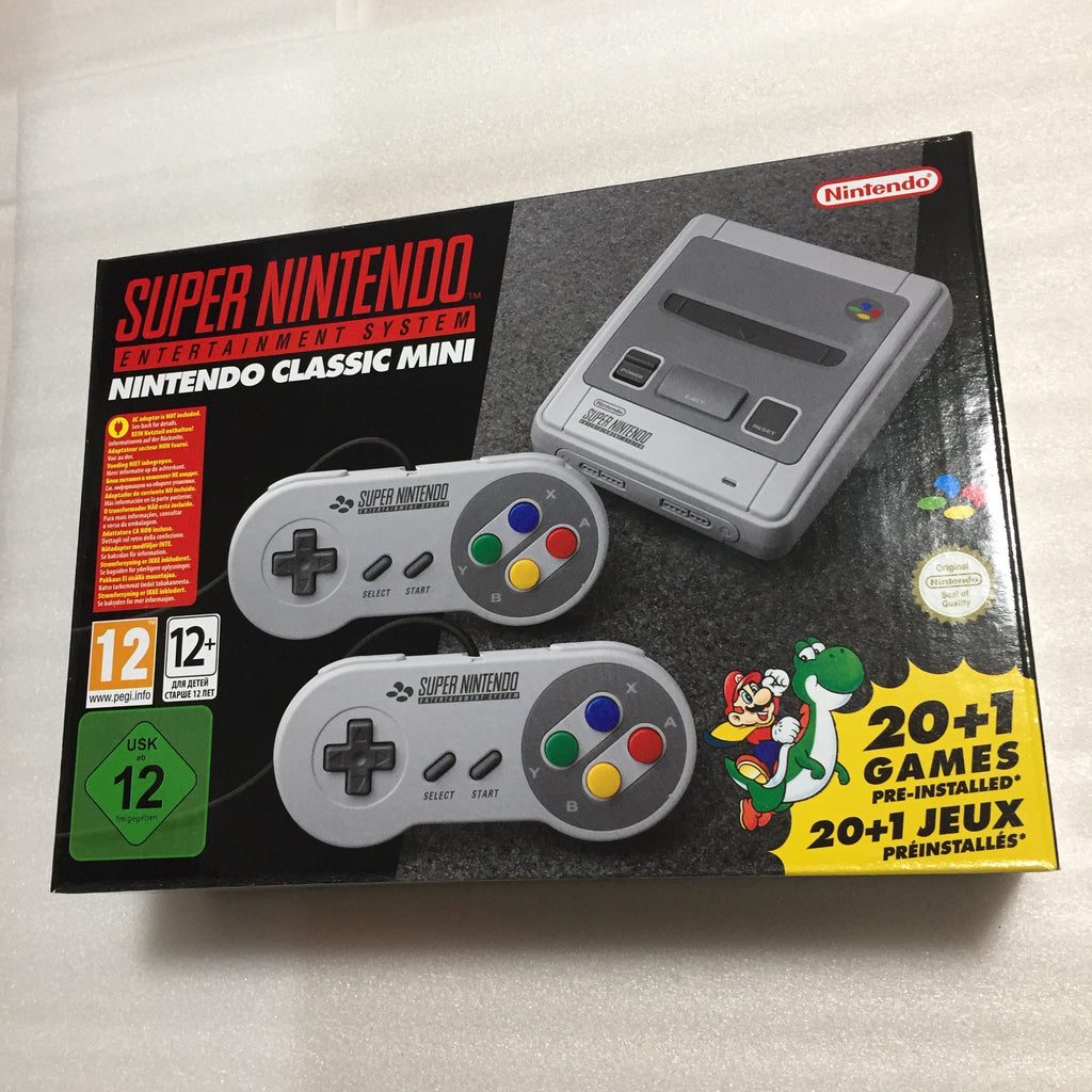 Super Famicom Mini and Super Nintendo (Europe) set