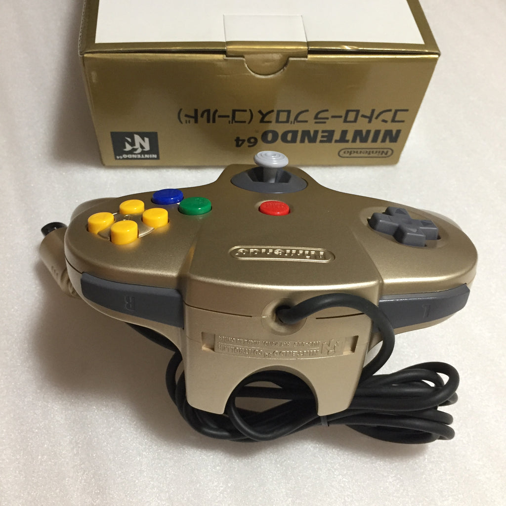 Gold Nintendo 64 in box set with ULTRA HDMI kit - compatible with JP and US games