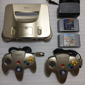 Gold Nintendo 64 set with ULTRA HDMI kit - compatible with JP and US games - Star Wars set