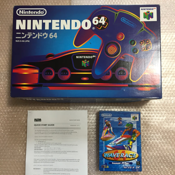 Nintendo 64 in box set with ULTRA HDMI kit - compatible with JP and US games - Wave Race set