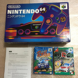 Nintendo 64 in box set with ULTRA HDMI kit - compatible with JP and US games - Rally set