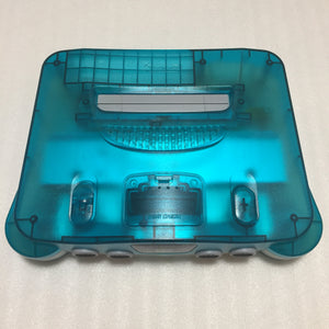 Clear blue Nintendo 64 set with ULTRA HDMI kit - compatible with JP and US games