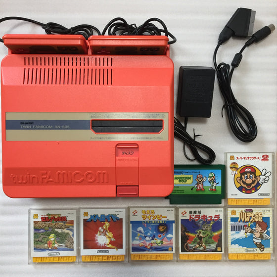 Twin Famicom with NESRGB kit set (AN-505-RD)