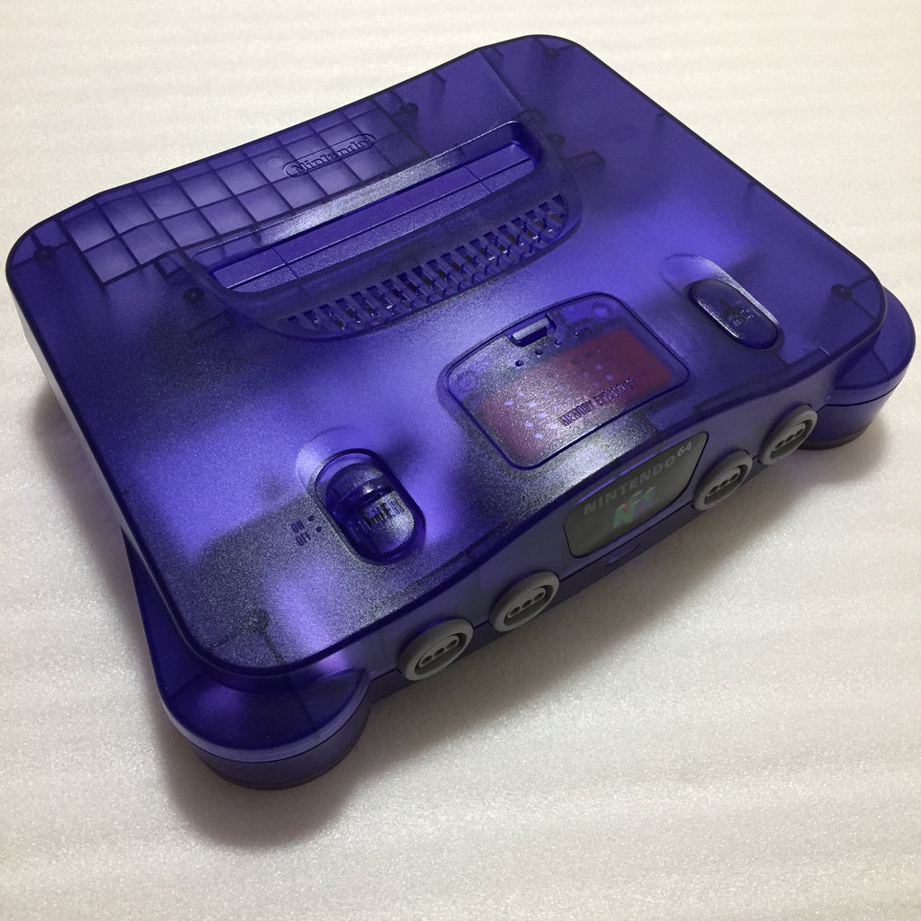 Clear Purple Nintendo 64 set with ULTRA HDMI kit - compatible with JP and US games