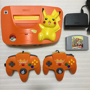 Pikachu Orange Nintendo 64 set with ULTRA HDMI kit - compatible with JP and US games