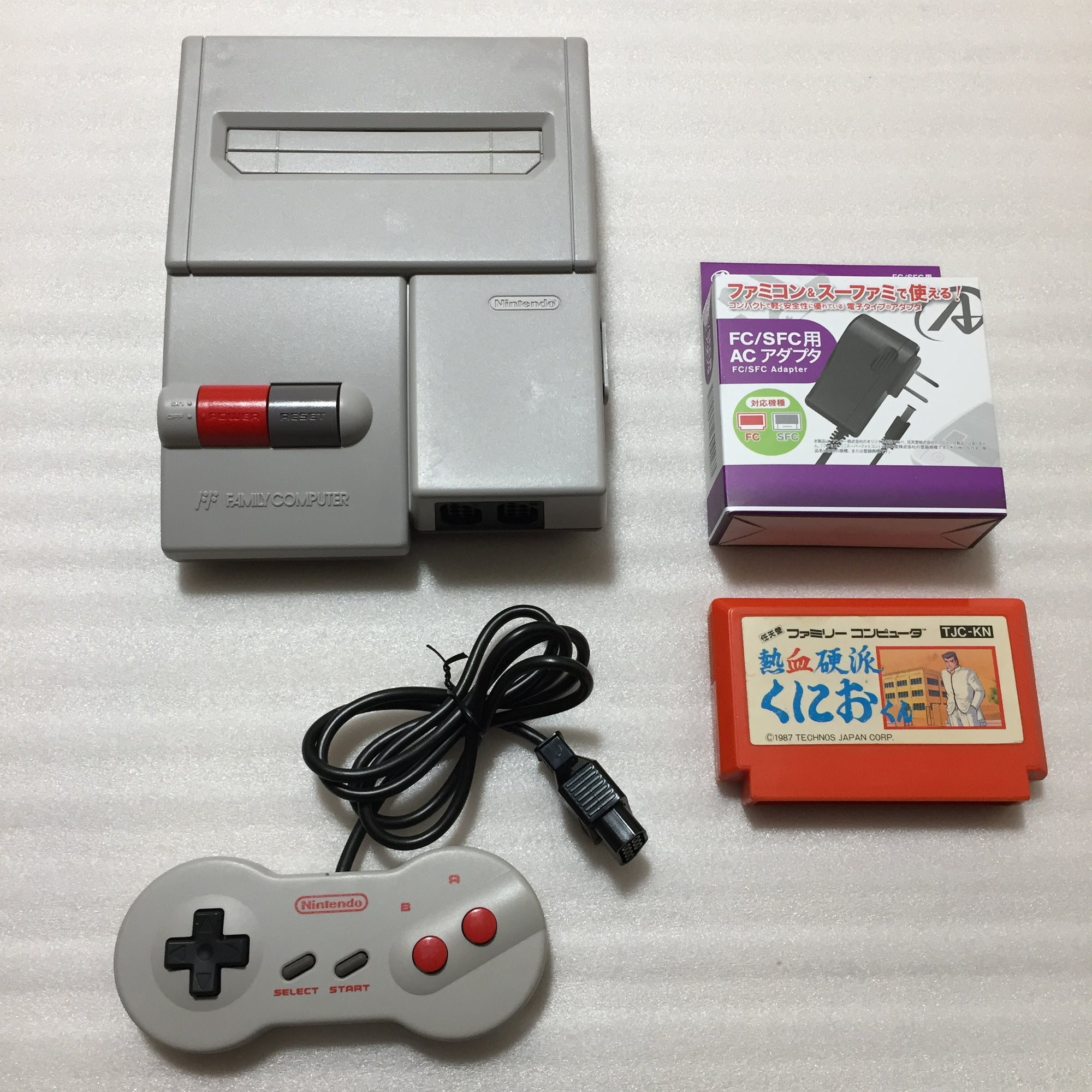 AV Famicom with Hi-Def NES kit - Kunio-kun set