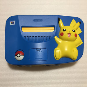 Pikachu Blue Nintendo 64 set with ULTRA HDMI kit - compatible with JP and US games