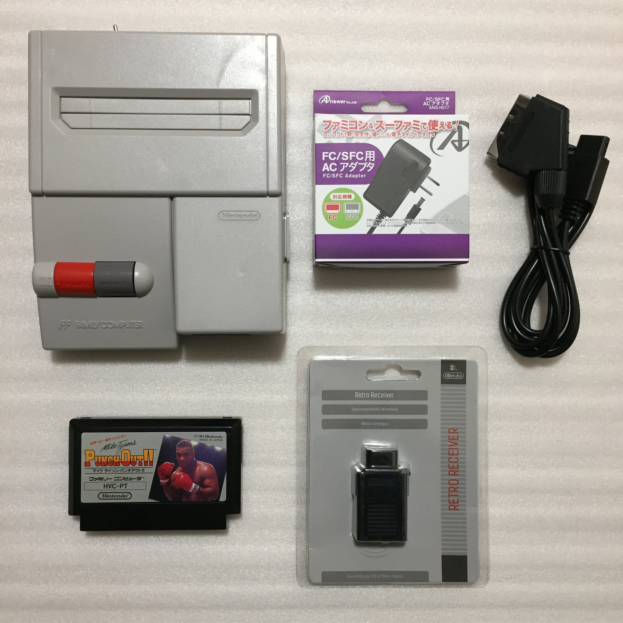 AV Famicom with NESRGB kit - Punch-Out set