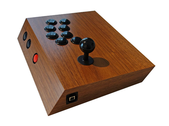 Continue9 - Wood Arcade stick - Ps3/PC - RetroAsia - 1