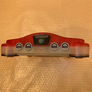 Clear Red Nintendo 64 set with ULTRA HDMI kit - compatible with JP and US games
