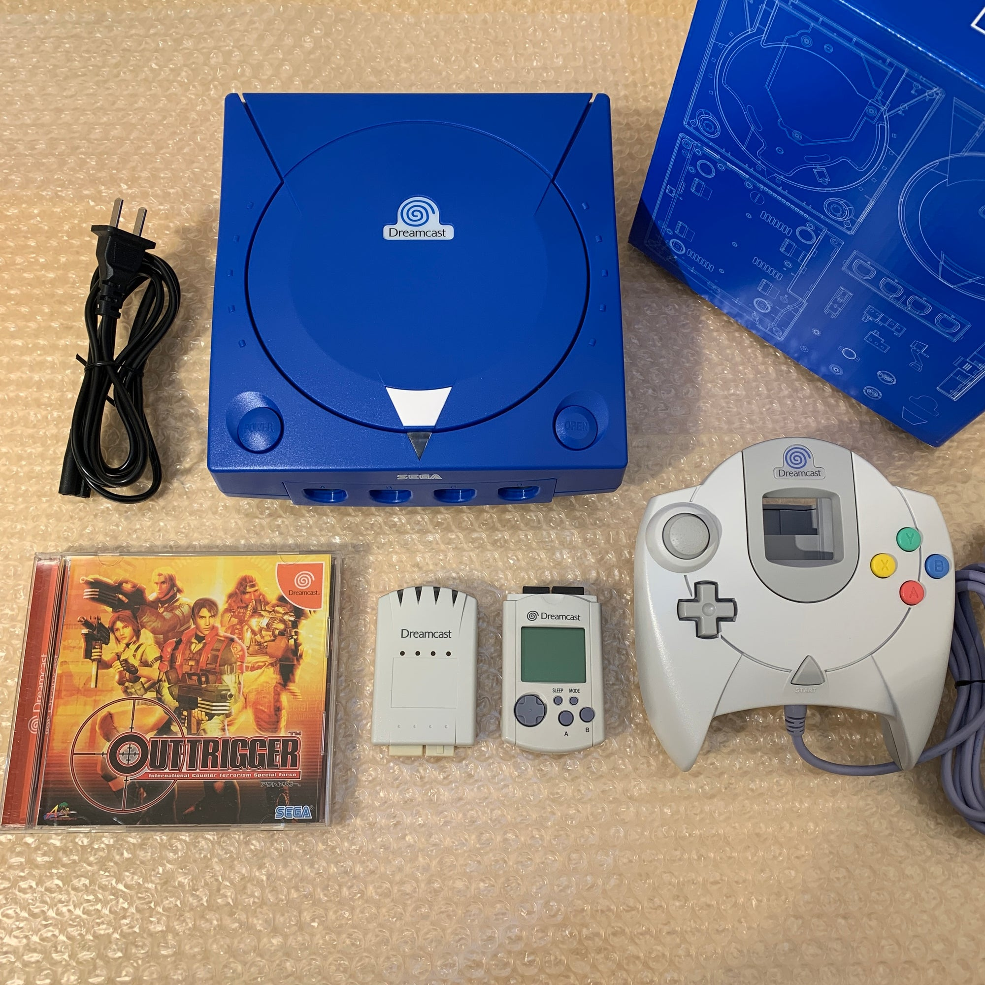 Blue Dreamcast set with DCDigital (DCHDMI) kit - Region Free