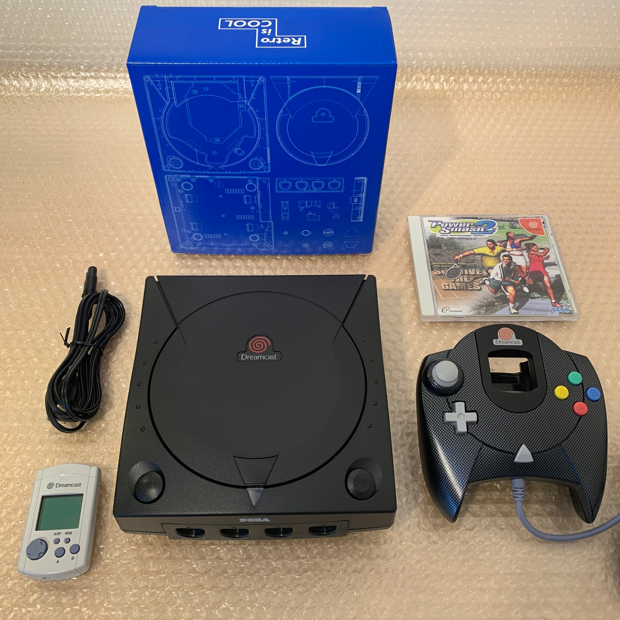 Black Dreamcast set with DCDigital (DCHDMI) kit - Region Free