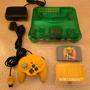 Jungle Green Nintendo 64 set with ULTRA HDMI (HW2 with RGB) kit - compatible with JP and US games