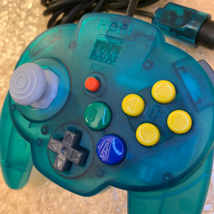 Clear Blue Nintendo 64 set with ULTRA HDMI (HW2 with RGB) kit - compatible with JP and US games